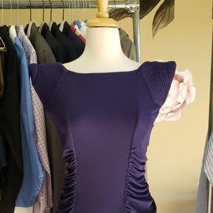 New BCBGMAXAZRIA Fitted Indigo Dress